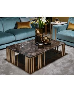 Adora Interiors ADO3353 Atmosfera Coffee Table With Marble Top