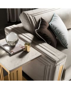 Adora Interiors ADO3535 Atmosfera Side Table With Marble Top