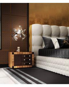 Asnaghi Interiors AID03503 Pure Corallo Modern Night Table