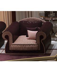 Asnaghi Interiors AID03601 Pure Rubino Modern Arm Chair