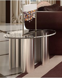 Asnaghi Interiors AID03605 Pure Rubino Modern Side Table