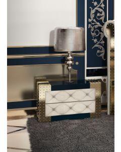 Asnaghi Interiors AID04003 Pure Quarzo Modern Night Table