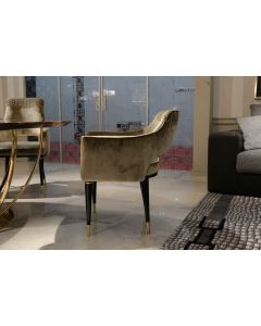 Formitalia Glamour FG3693 Dome Dining Chair W/ Embroidery