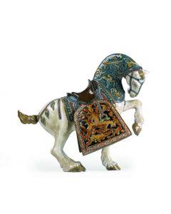 Lladro 1001943 Limited Edition Glazed Oriental Horse Sculpture