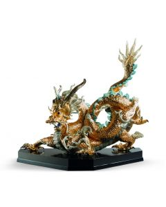 Lladro 1001973 Limited Edition Golden Lustre Great Dragon Sculpture