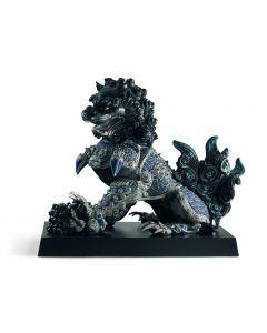 Lladro 1001994 Limited Edition Black Guardian Lion Sculpture