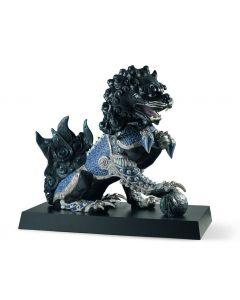 Lladro 1001995 Limited Edition Black Guardian Lion Sculpture