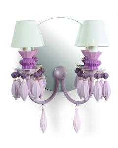 Lladro Lighting 1023278 Belle De Nuit 2 Light Table Lamp