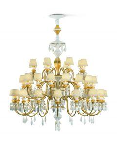 Lladro Lighting 1023312 Belle De Nuit 40 Light Chandelier