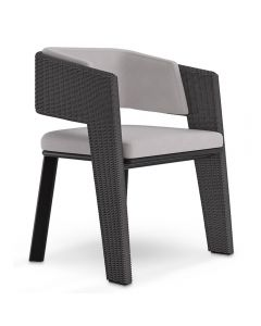Luxxu LUX4086 Galea Grey Outdoor Dining Chair