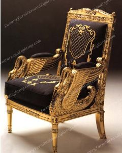 Authentic Italian Furniture 1658 The Swan Occasional Chair