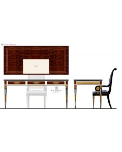 Mariner 50308.2 Wellington Russian Empire Style Small Desk