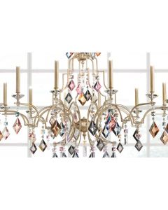 Masiero LIZZI4+4P01 Lizzi 8 Light Chandelier