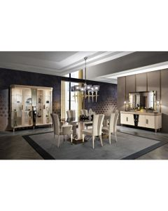 "Mobilpiu Luxury MPL4125 Diamond 91"" Long Dining Table-Imperial Black"