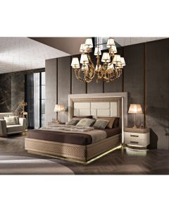 Mobilpiu Luxury MPL4142 Diamond King Size Bed with Upholstered Bed Frame