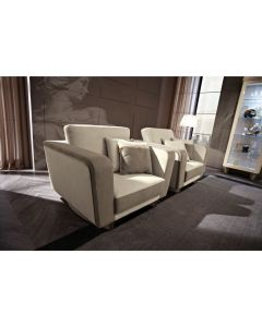 Mobilpiu Luxury MPL4145 Diamond Leather Armchair