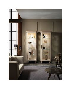 Mobilpiu Luxury MPL4172 Diamond 1 Door Glass Cabinet