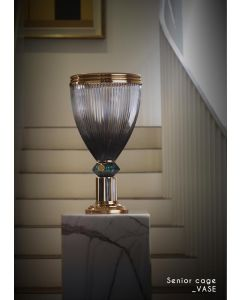 Baldi Home Jewels 696912PA169LGGV Boccadoro Senior Cage Vase