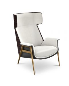 Tonino Lamborghini Casa TL2590-C Florence Chair Upholstered In Leather